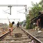 Up on #TheStands: Cricket on a railway track, a few minutes before a train rolls in. http://t.co/qvRCcGoQ8Z