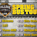 RT @ESPNCFB: #CFBLIVE spring bus tour is checking in LIVE from #Alabama next on @SportsCenter