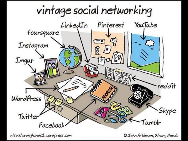 'Vintage social networking' :) http://t.co/GOK3FEzZdY