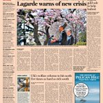 Front page of the Financial Times US Thursday, April 11 http://t.co/MA4sibUeze