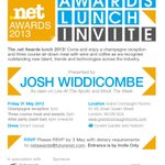 The first invites to the #netawards are going out today. Nominees, judges, sponsors, check your inboxes! :) http://t.co/CzGs04DvdU