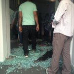 RT @vrindaprasad: This is how badly they have destroyed our premises! #Maatv. Protest to tak off dubbing serials! :/