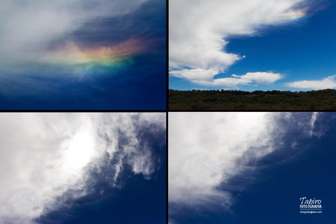 RT @tapirofoto Ayer en Cerro Grande, Colima, una nube iridiscente y un halo solar. http://t.co/90s8cgWBEj