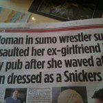Now that's what I call a headline …