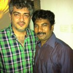"Last week Thalabathy and this week Thala!! Kalaku""@JCJerome: With Thala at his residence...@dirvenkatprabhu #Thala"