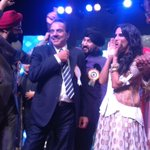 With dharma ji at baisakhi celebrations for punjabi association! He danced n we cheered !