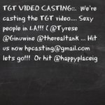 TGT VIDEO CASTING: It's a LIVE CONCERT VIDEO!!! Ladies and Gents are welcome!!! Shoot May 1st Hpcasting@gmail.com