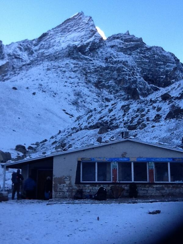 The lodge at Lobuche where we stayed last night. Tonight (27 April) we stay at Gorak Shep (5190m). http://t.co/AxbcyIRvpX