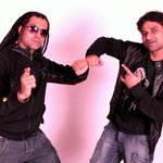 And here's a pic of d Bhangra/Rap Star APACHE INDIAN n ME in my Studio.. While recrding 4