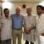It was wonderful to have @ArvindKejriwal Manish & Kumar in the audience watching Kucch Bhi Ho Sakta Hai. Thank you.:)