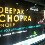 Looking forward  RT @Rockesvida: Y me encontré esto en el metro @DeepakChopra