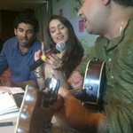 #Aashiqui2: Jeet Ganguly, Sharadha & Aditya sing a hit tune for the media in Kolkata.