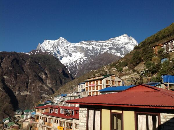 Views of the mountain! #SAConEverest - picture taken by Gustav Bouwer http://t.co/wy3NSUXCW8