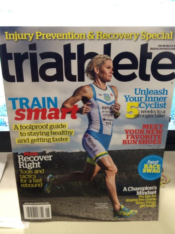 RT @JuliaPolloreno: Hot off the press! First look @TriathleteMag June issue cover w/ @mirindacarfrae http://t.co/5b9AU29g8v