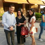 With Ayesha and Vaishali at Kingdom Of Dreams...
