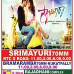 Happy tht #SwamyRaRa playing in its 5th WEEK in all the main centres inspite of lots of new movies.. HYD THEATRE LIST