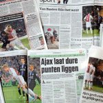 Wat schrijven de kranten over Ajax - sc Heerenveen? Check het overzicht: http://t.co/r9yglUPbbX #ajahee