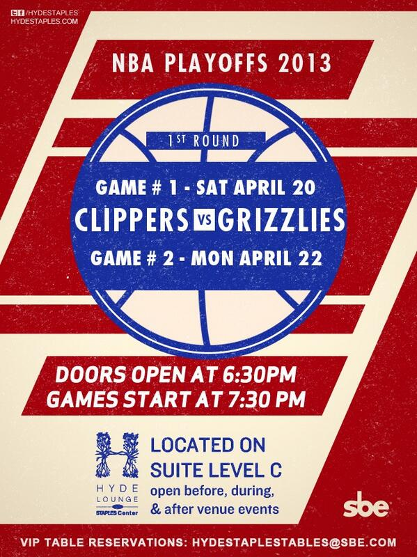 Who going to @hydestaples for Clippers game today? I think I'm going. #game1 http://t.co/8rQy2GM6pf