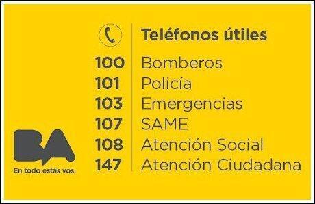 Tené siempre a mano estos teléfonos útiles. http://t.co/7jlNM2epEr