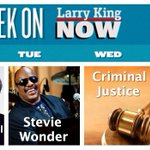RT @OraTV: SNEAK PEEK: This week on #LarryKingNow: @QuincyDJones @themichaelcaine @OfficialJLD & Stevie Wonder: