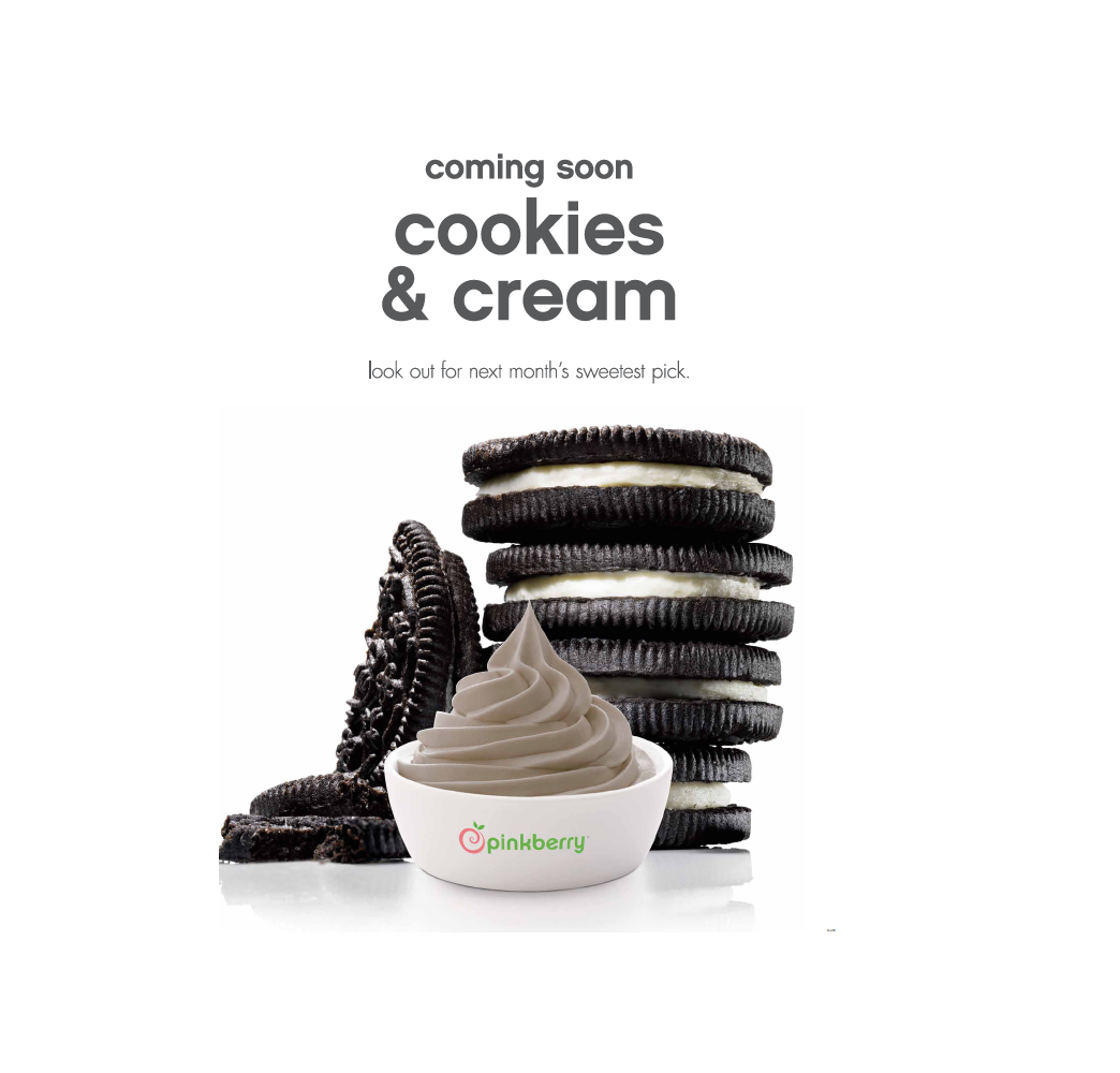 Coming soon Cookies & Cream. Look out for next month's sweetest pick. http://t.co/8AdCQq5Peu