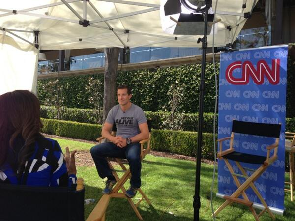 DelbertShoopman (@DelbertShoopman): First stop for us @nbc summer press day is @cnn! #GetOutAlive @NBCGetOutAlive with @BearGrylls http://t.co/e3RihYdarJ
