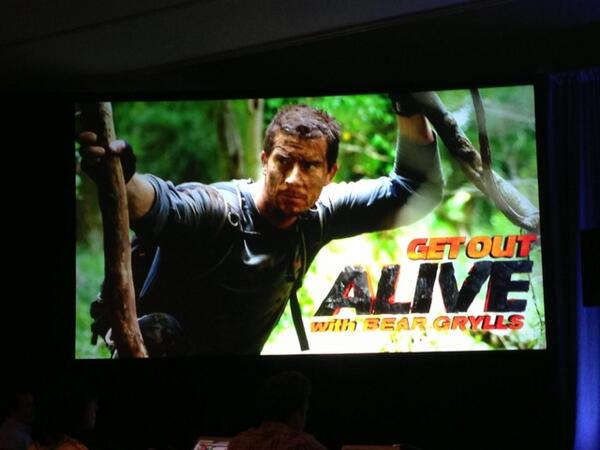 DelbertShoopman (@DelbertShoopman): Your first snap shot of the @NBCGetOutAlive w/@BearGrylls logo! #GetOutAlive http://t.co/yp7T9yd0XS