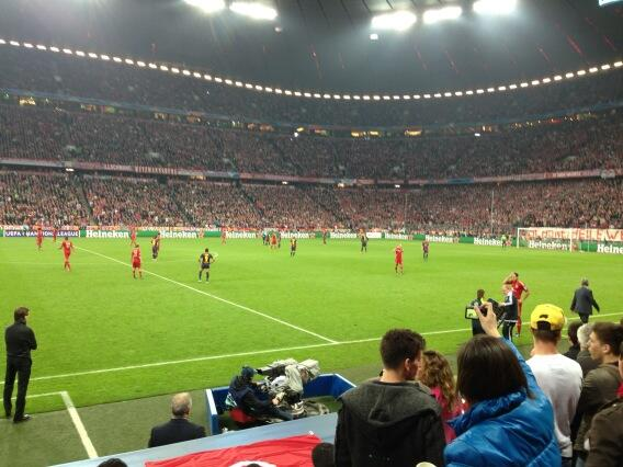 What a game! Just been to Munich with @real_liam_payne and @louis_tomlinson to watch the semi final! Epic 4-0 ! http://t.co/BZC2vIhwQx