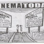 Nice cartoon in Complete Cinema magazine on the two kinds of films ... good one.