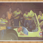 Celebrating CSK's on the so called official jeep ..well done Aakash ...