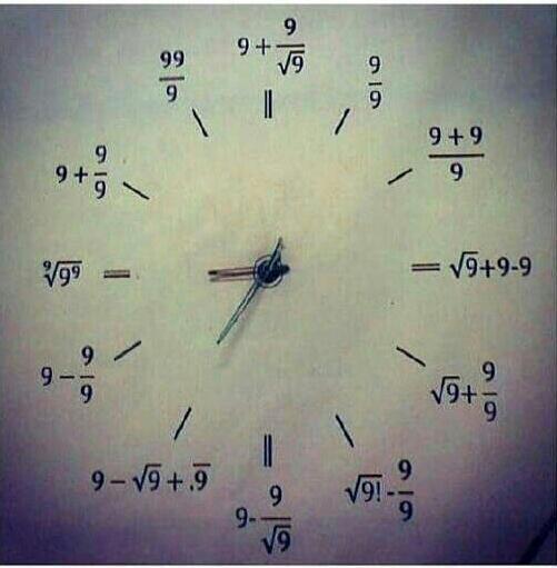 RT @Allmo0on: @almuraisy ونستطيع أن نعتبر هذه الساعه أيضاً لعشاق الرياضيات http://t.co/vFjJ8OZR2l