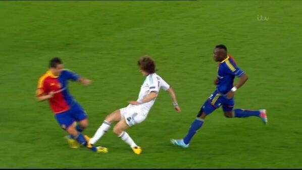 BIukLxSCQAAT4C8 Lucky to stay on & score the winner? David Luizs horror challenge on Phillip Degen