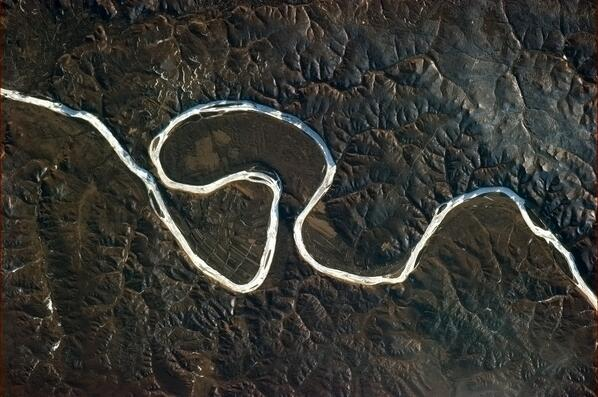 RT @Cmdr_Hadfield: This river's about to take a short cut. http://t.co/1WZpfvXO8L  #geographyteacher