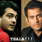 RT @CoolKarthy: @Premgiamaren @msdhoni On screen and On ground Thala..