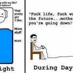 RT @TheGoogleImages: Me.. day and night... http://t.co/gZVTD7E0QK