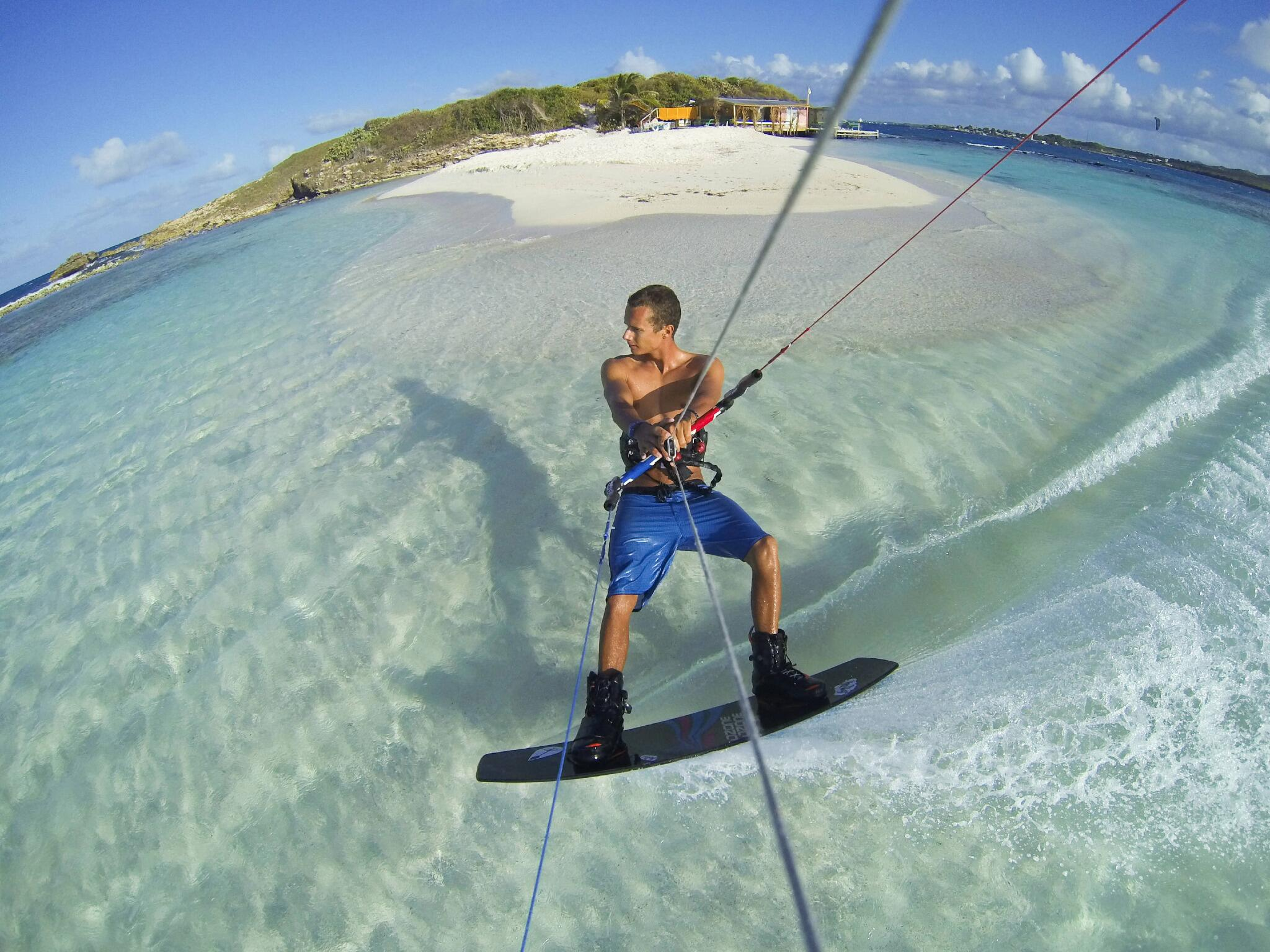 Photo of the Day! Island hopping in Antigua with @JakeKelsick. #GoPro #kiteboarding http://t.co/b59AcCeqs6