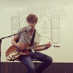 Thanks to Luke from @BornRuffians for singing to Pandora Oakland today! http://t.co/34dCGpAGHQ