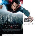 RT @9GAG: Behind the scene of Superman poster..