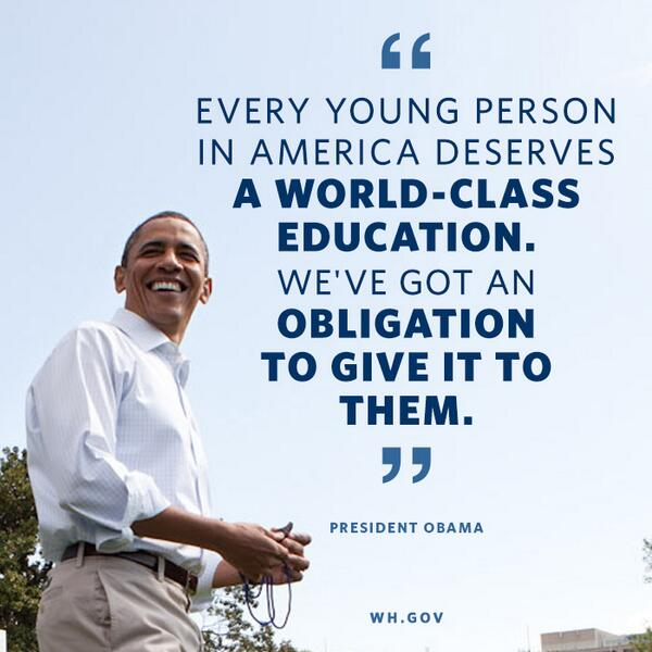 RT if you agree: We need to educate our kids so they have the skills to succeed in the jobs of tomorrow. http://t.co/r8EPvtOO5N