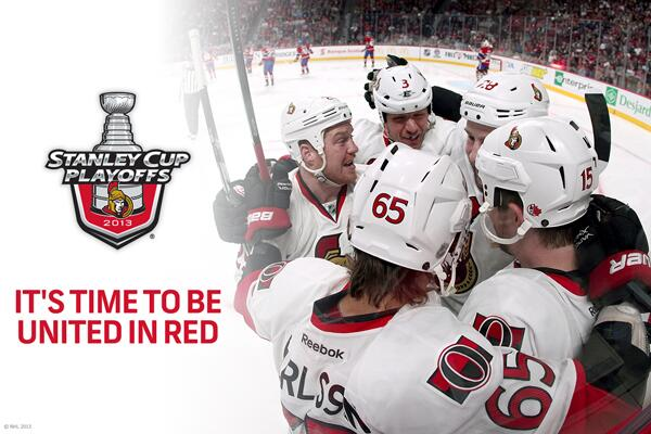 Hey @NHL_Sens fans... It's Time To Be United In Red. #BecauseItsTheCup #StanleyCup #UnitedInRed http://t.co/7hJlP24Q5g