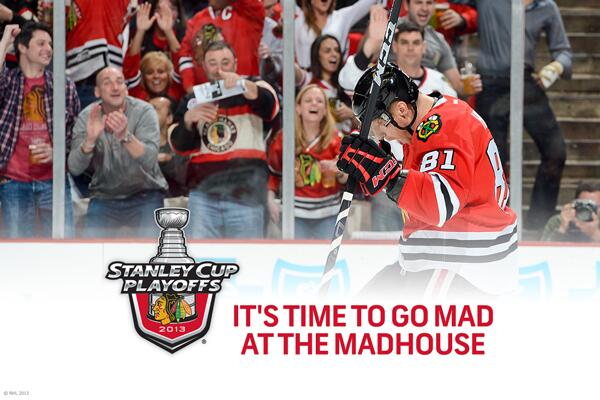 First the Presidents' Trophy. Then winning 1st round series in 5. How far will the @NHLBlackhawks go? #StanleyCup http://t.co/rA0H75bs9I