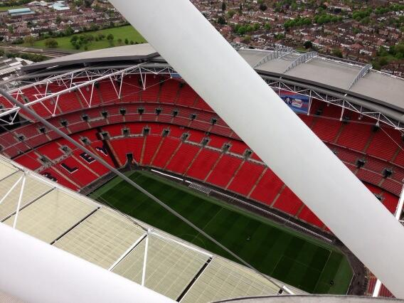 RT @realjoeswash: I've been at the top of wembley arch  2 day I'm doing some of the FA cup for ESPN http://t.co/BjrwJ41gq8