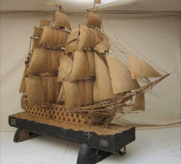 Ian Brennan's 1:66 Scale Model of the HMS Victory Carved from Wood http://t.co/ExvrTpQbbZ