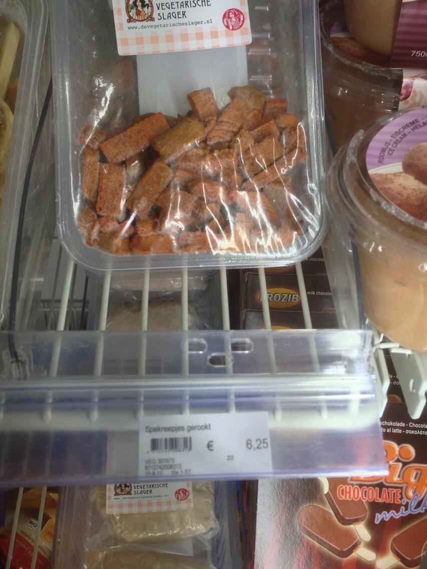 €6,25 voor vegaspekjes, is dat niet wat overdreven? #goodbuy @VegaSlager http://t.co/kzZf1DuIhz