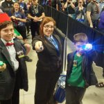 How about a family cosplaying as three Doctors?!