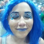Attention r/MakeupAddiction! This R2D2 eye makeup is amazing.
