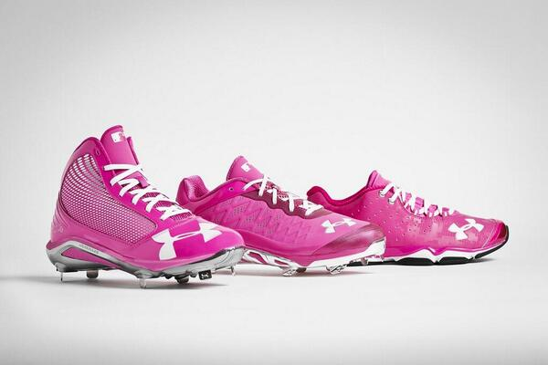 Under Armour Football Cleats Pink Under Armour s MLB players