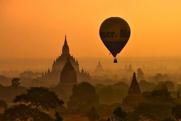 RT @BoletinViajes: Amanecer en Bagan, Myanmar, una de las ciudades más antiguas en Asia! @Japanaffinity http://t.co/XDqoEyz4mF