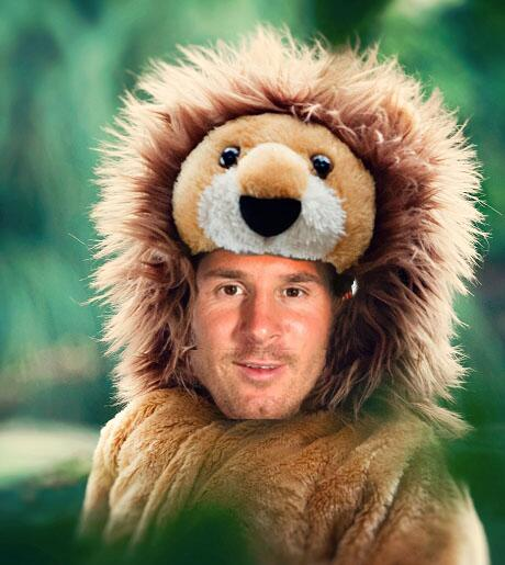 lion on messi