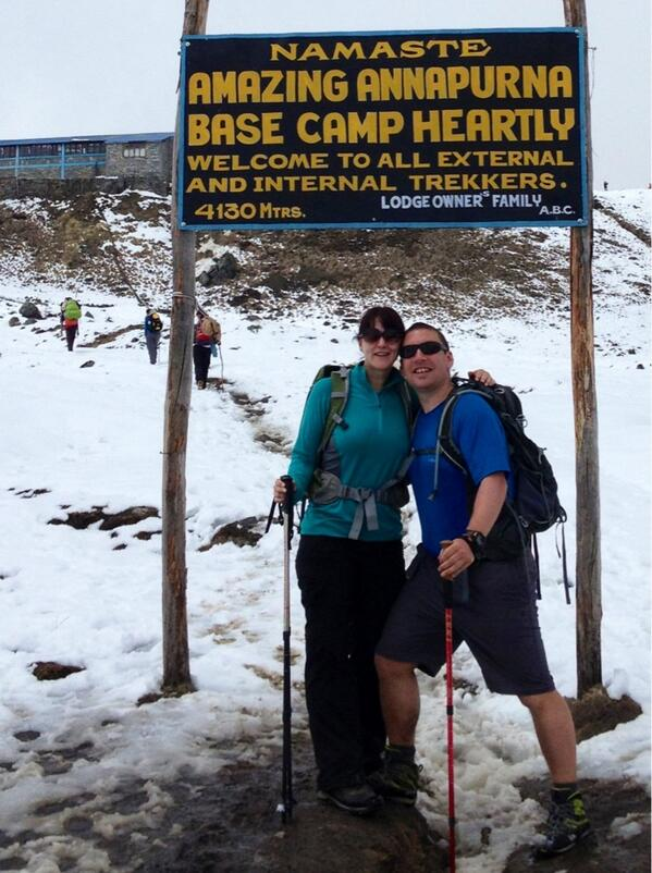 Basecamp - made it ! http://t.co/WnXKBw6rDs
